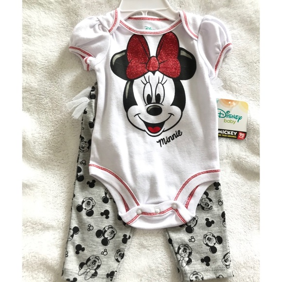 97216d23de Disney Matching Sets | Minnie Mouse Baby Girl Outfit 03 Months ...